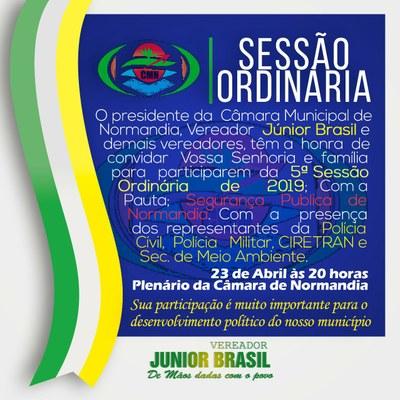 Quinta Sessão Ordinádia