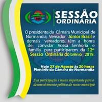Sessão Ordinária Biênio 2019